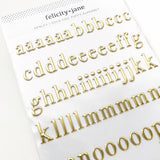 Gold Foil Puffy Alphabet - lowercase