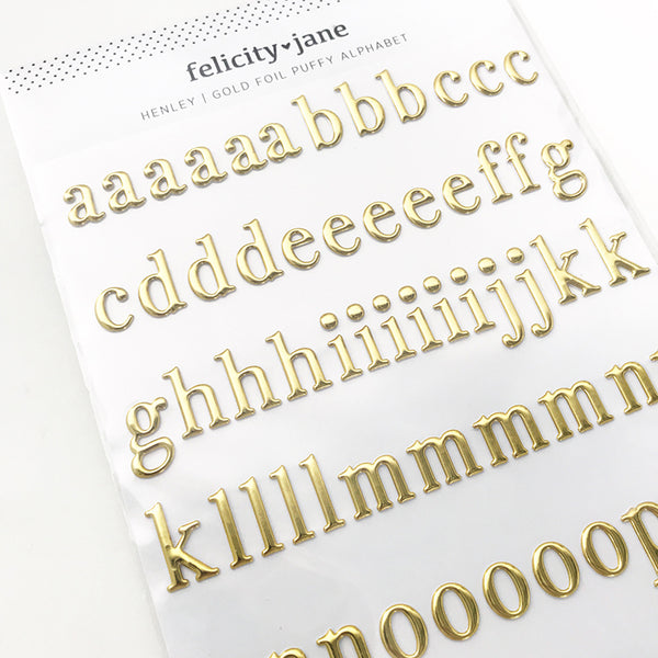 Henley | Gold Foil Puffy Alphabet