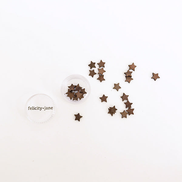Holly | Mini Wood Star Confetti - DARK