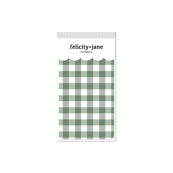 Traveler's Notebook Insert | Joy - Green Plaid