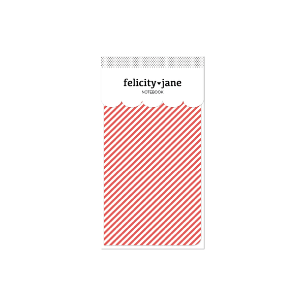 Traveler's Notebook Insert | Joy - Red Candy Stripe
