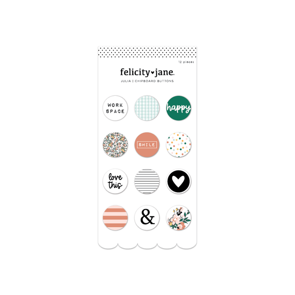 Julia | Chipboard Buttons