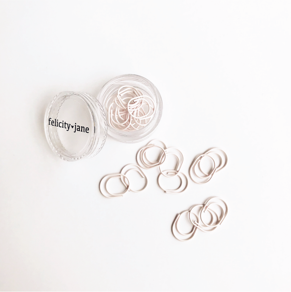 Essentials | Miniwide Paper Clips - soft pink