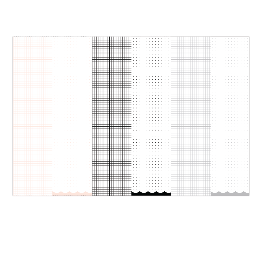 Essentials | 12 x 12 Grid & Dot Grid Paper Pack