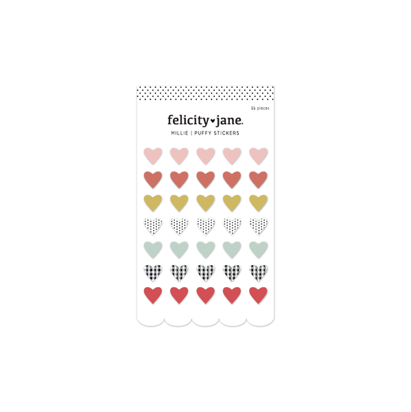 Millie | Puffy Heart Stickers