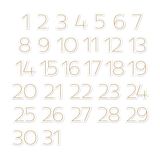 Noel | Chipboard Numbers