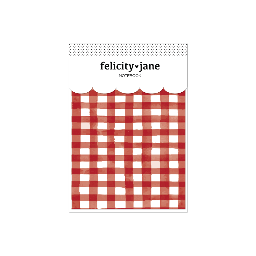 A5 Notebook | Noel Gingham Red