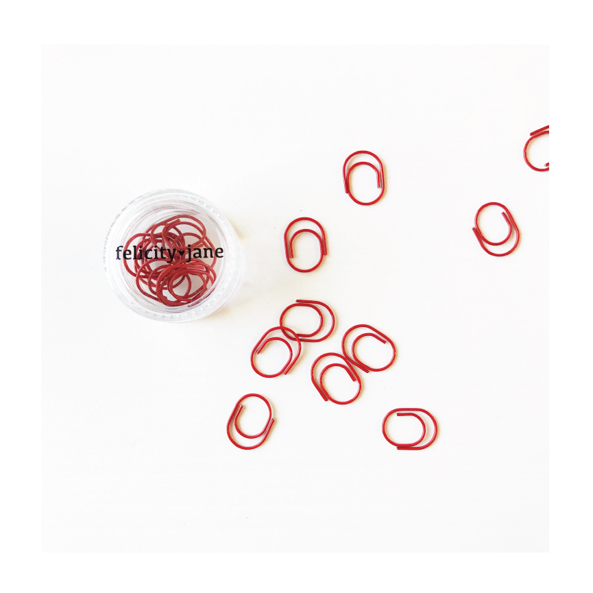 Essentials | Miniwide Paper Clips - Red