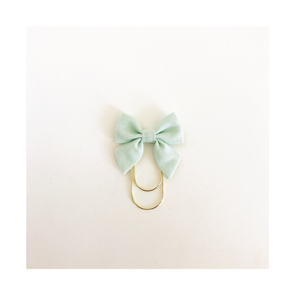 Mini Fabric Bow Clip | Sarah Mint