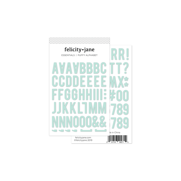 Essentials | Puffy Alphabet Stickers - Mint