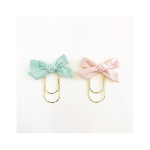 Mini Handtied Fabric Bow Clip SET | Shay