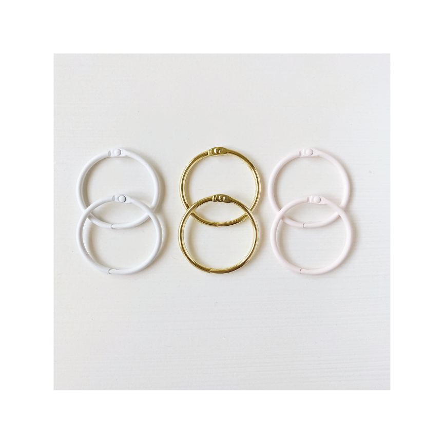 Essentials | Loose Leaf Rings - Mixed Set