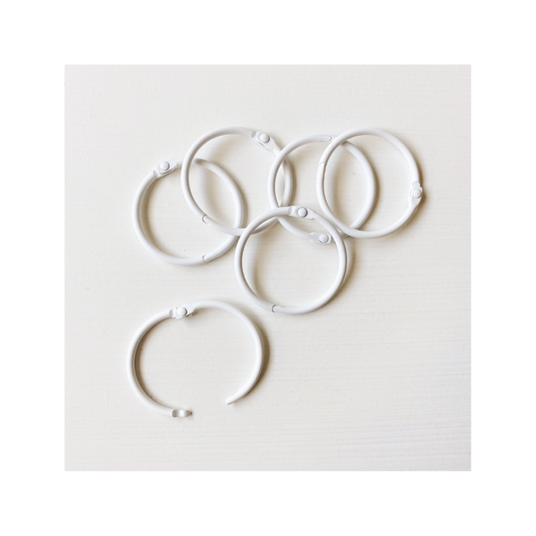 Essentials | Loose Leaf Rings : white