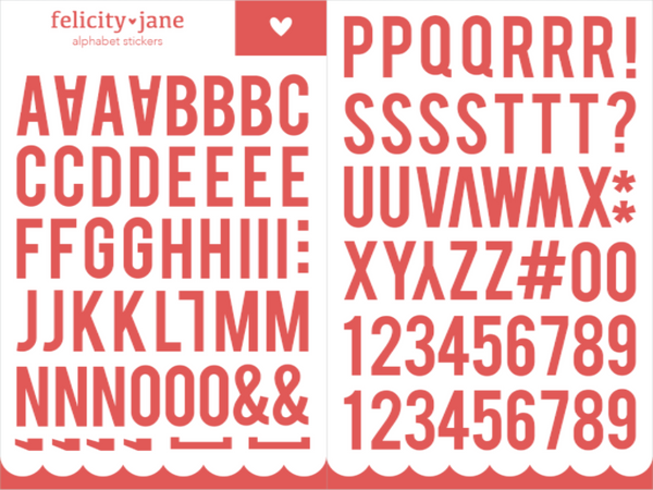 Alphabet Stickers | Red