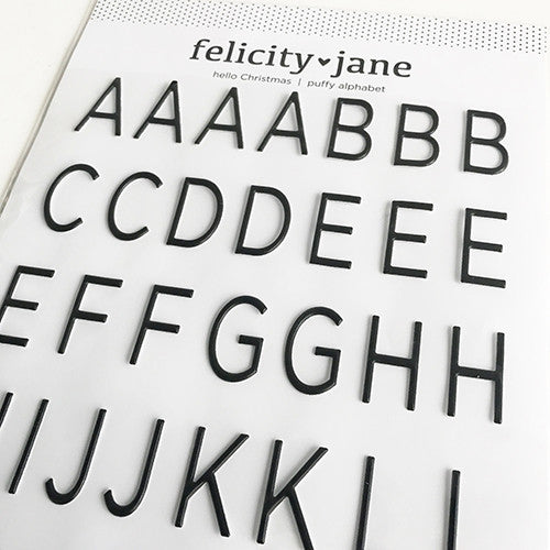 Hello, Christmas! | Black Puffy Alphabet - Felicity Jane