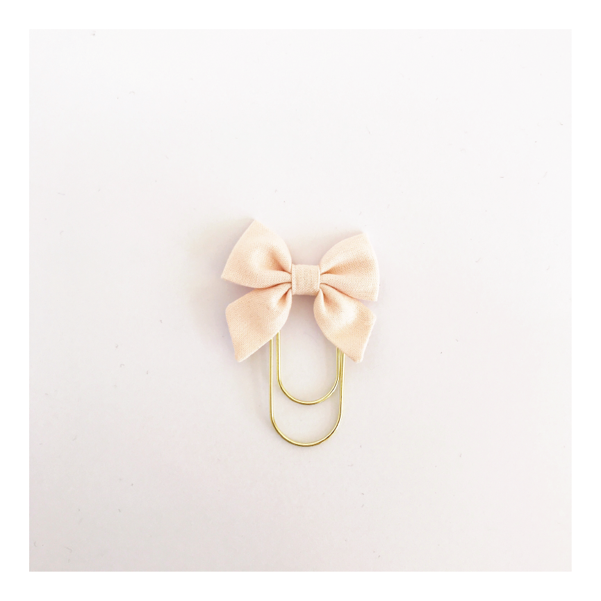 Mini Fabric Bow Clip | Amber Perfectly Pink