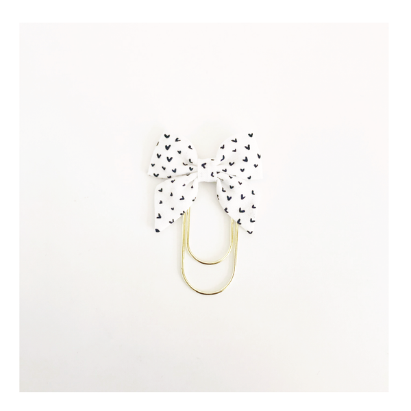 Mini Fabric Bow Clip | Lindsey Hearts