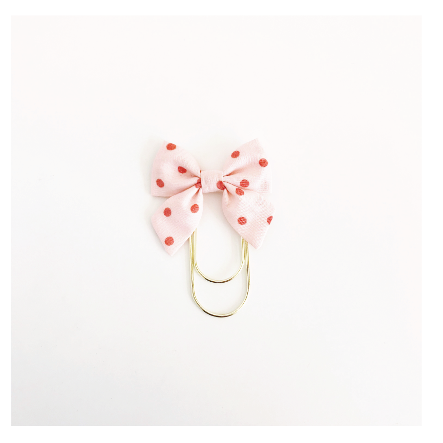 Mini Fabric Bow Clip | Lindsey Dot