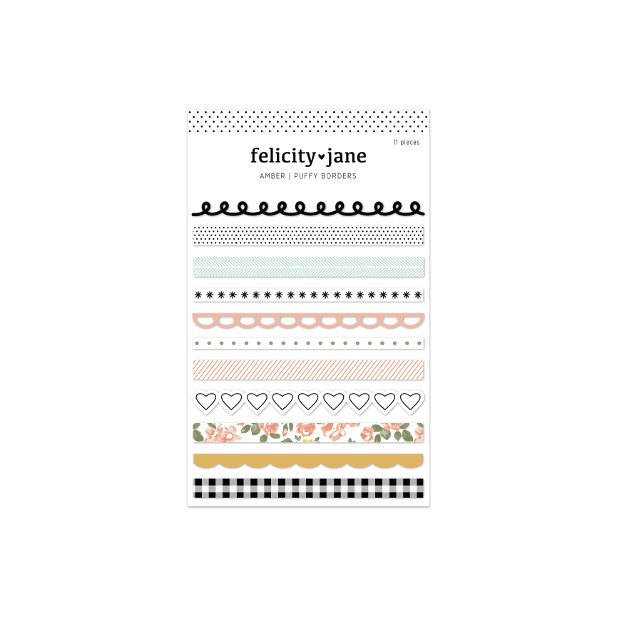 Amber | Puffy Border Stickers