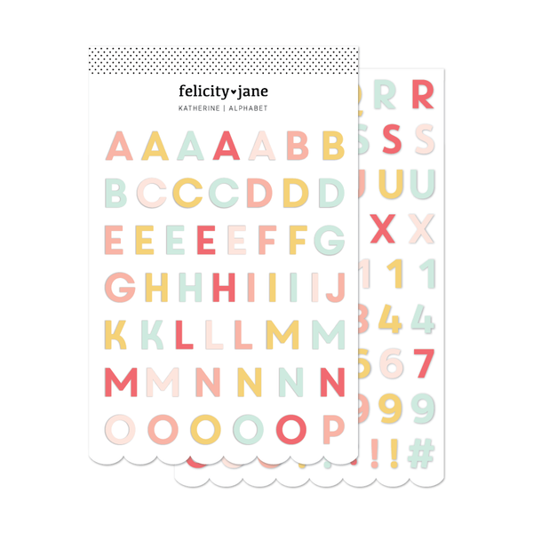 Katherine | Puffy Alphabet Stickers