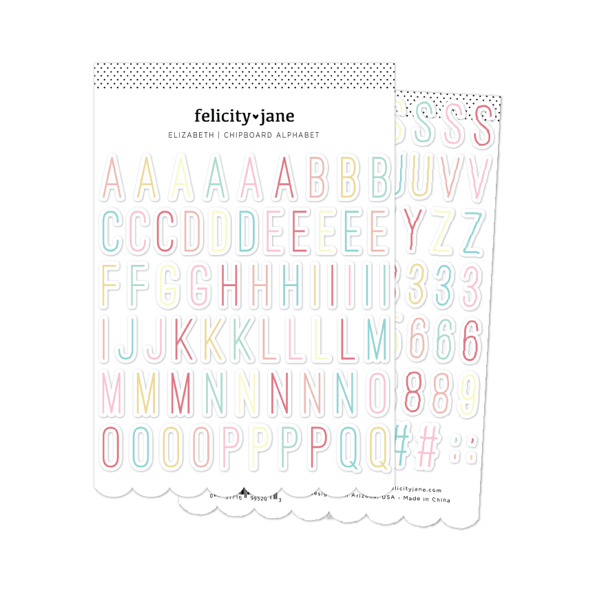 Elizabeth | Chipboard Alphabet Stickers