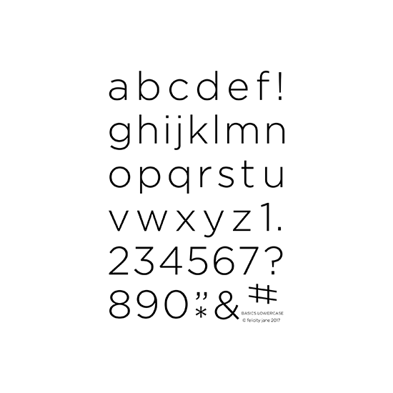 Basics Lowercase | Stamp Set