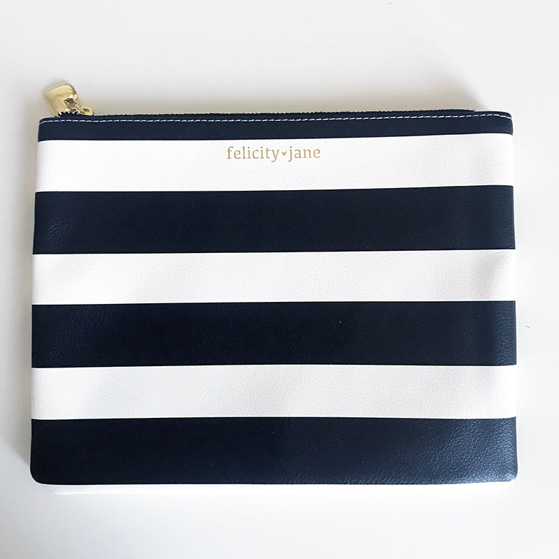 Zipper Pouch - Black Stripe