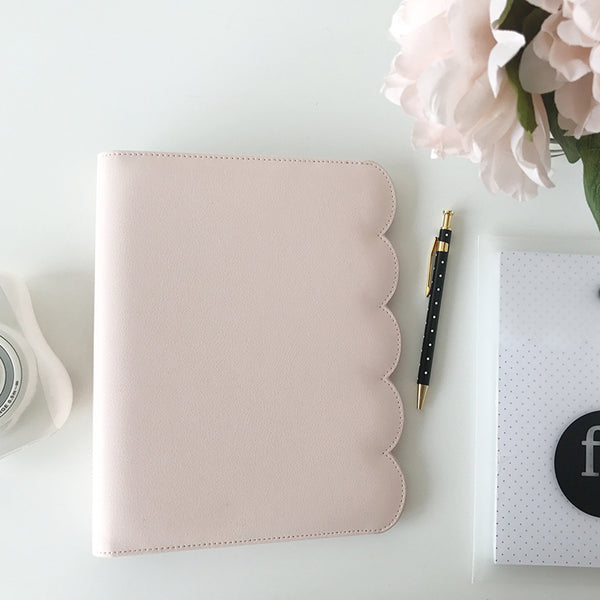 SLIGHTLY IMPERFECT - Note to Self Binder | Blush Scallop