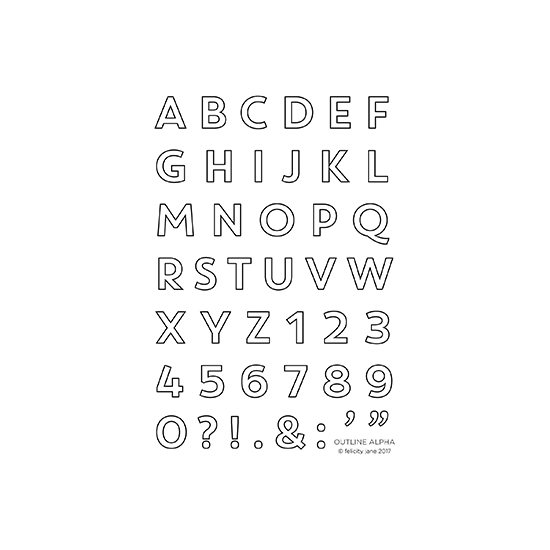Outline Alpha | Stamp Set