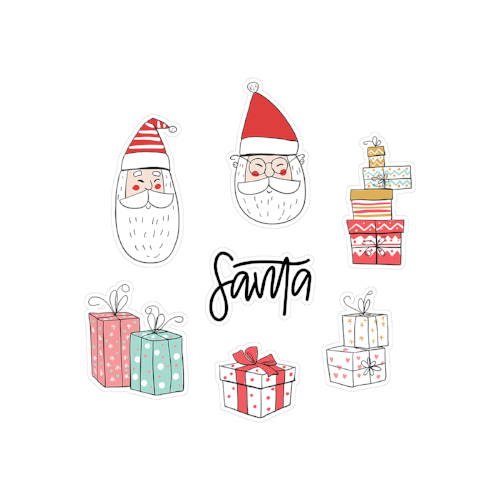printable cut file | santa & gifts