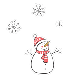 printable cut file | snowman & snowflakes