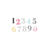 Zoey | Chipboard Numbers