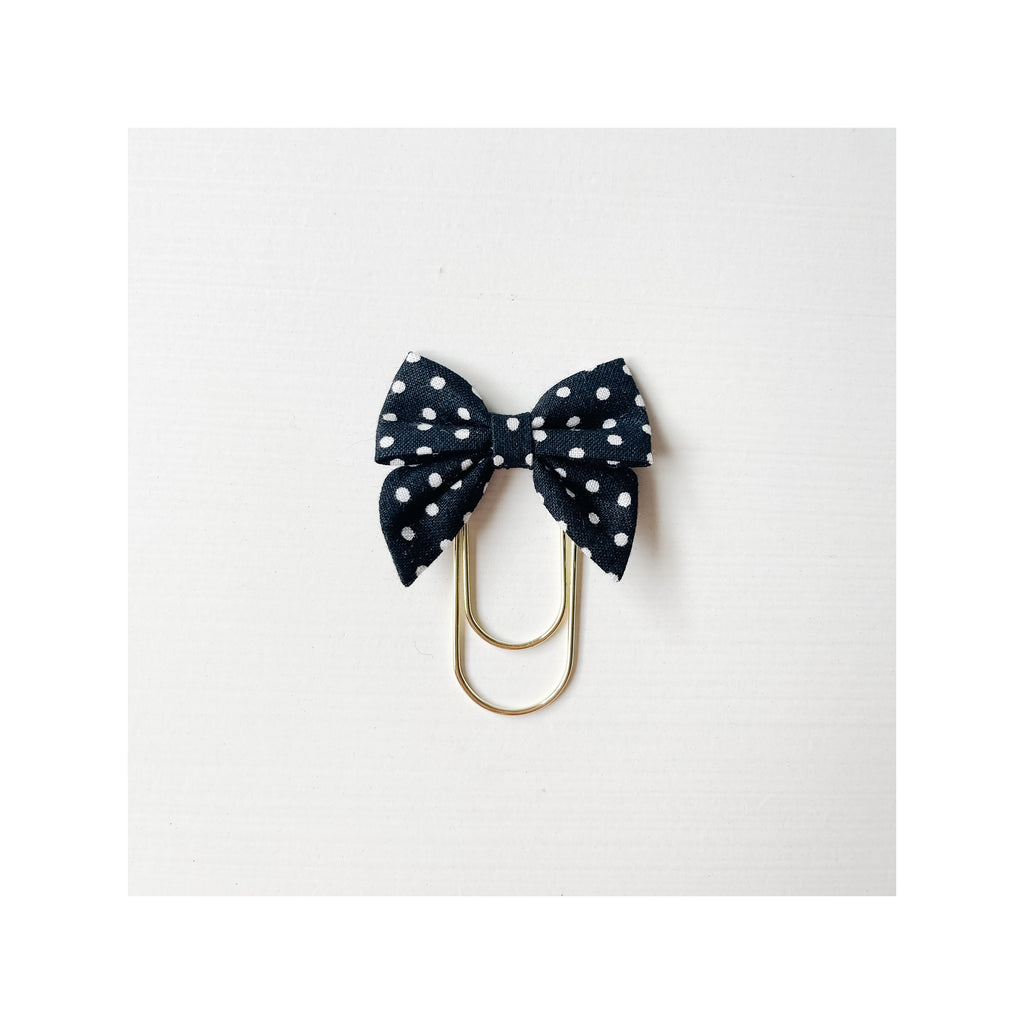 Mini Fabric Bow Clip - Krystal Dot