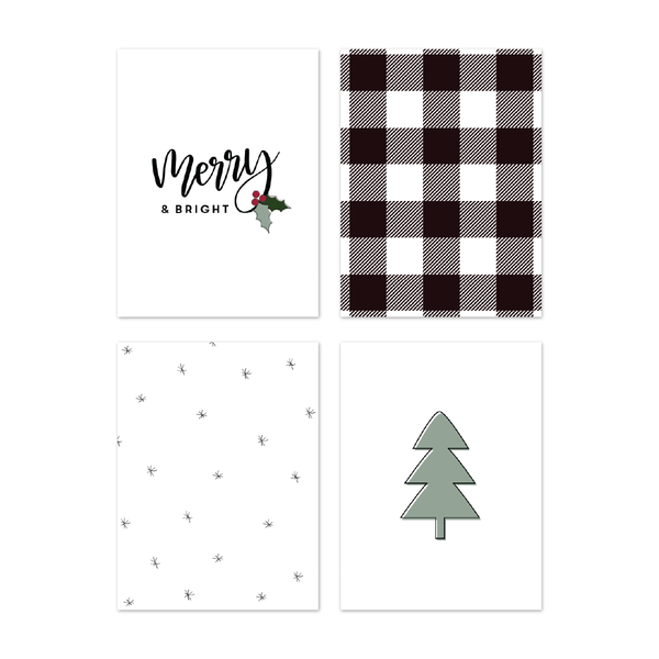 Merry & Bright Journaling Card Set