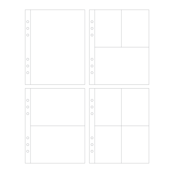 Page Protectors | Variety Pack - 6 ring