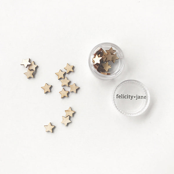 Joy | Mini Wood Star Confetti