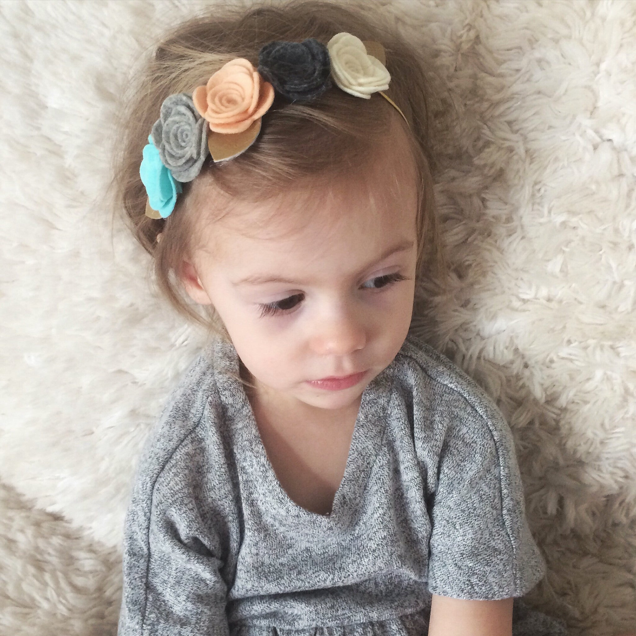 Oversized flower crown spring hues headband felt flowers hair bow oversized flower crown cluster spring izmirmasajfo