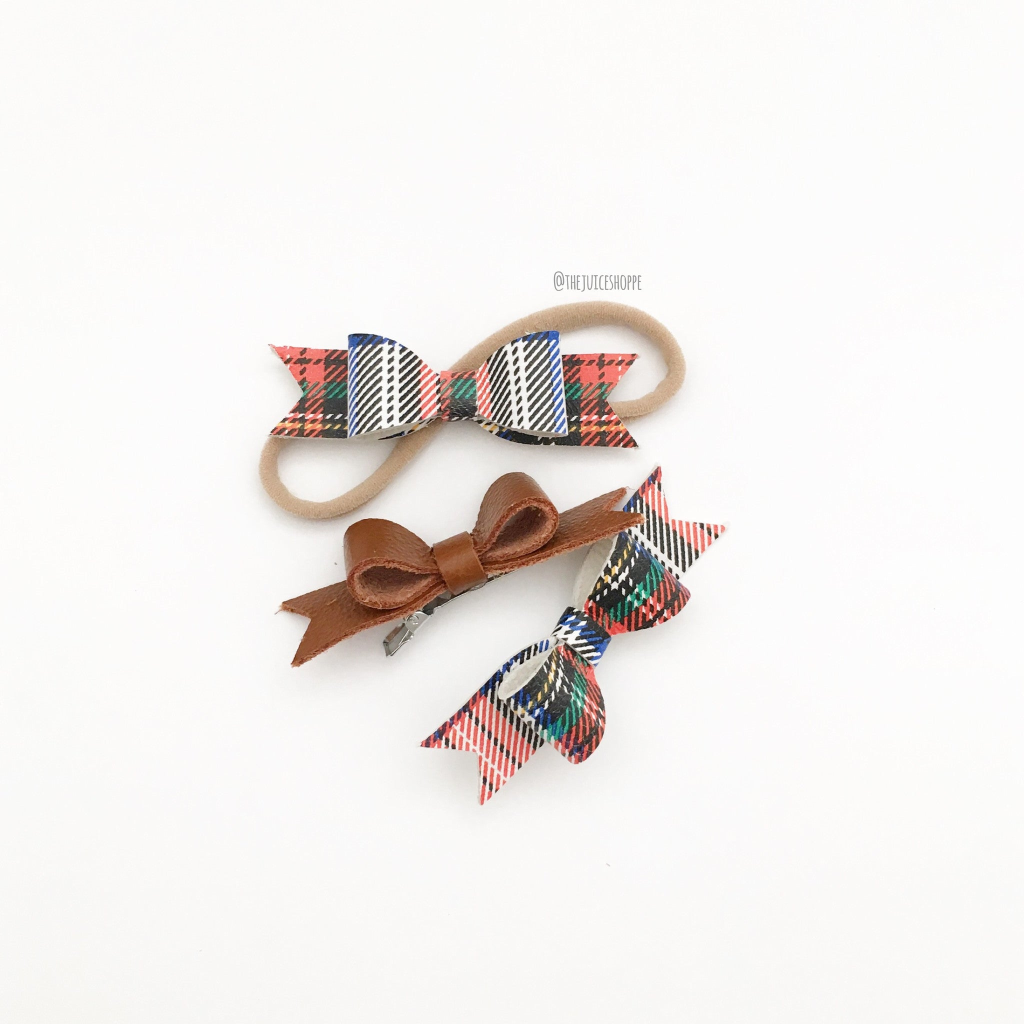 holiday la petite - plaid (headband or clip)