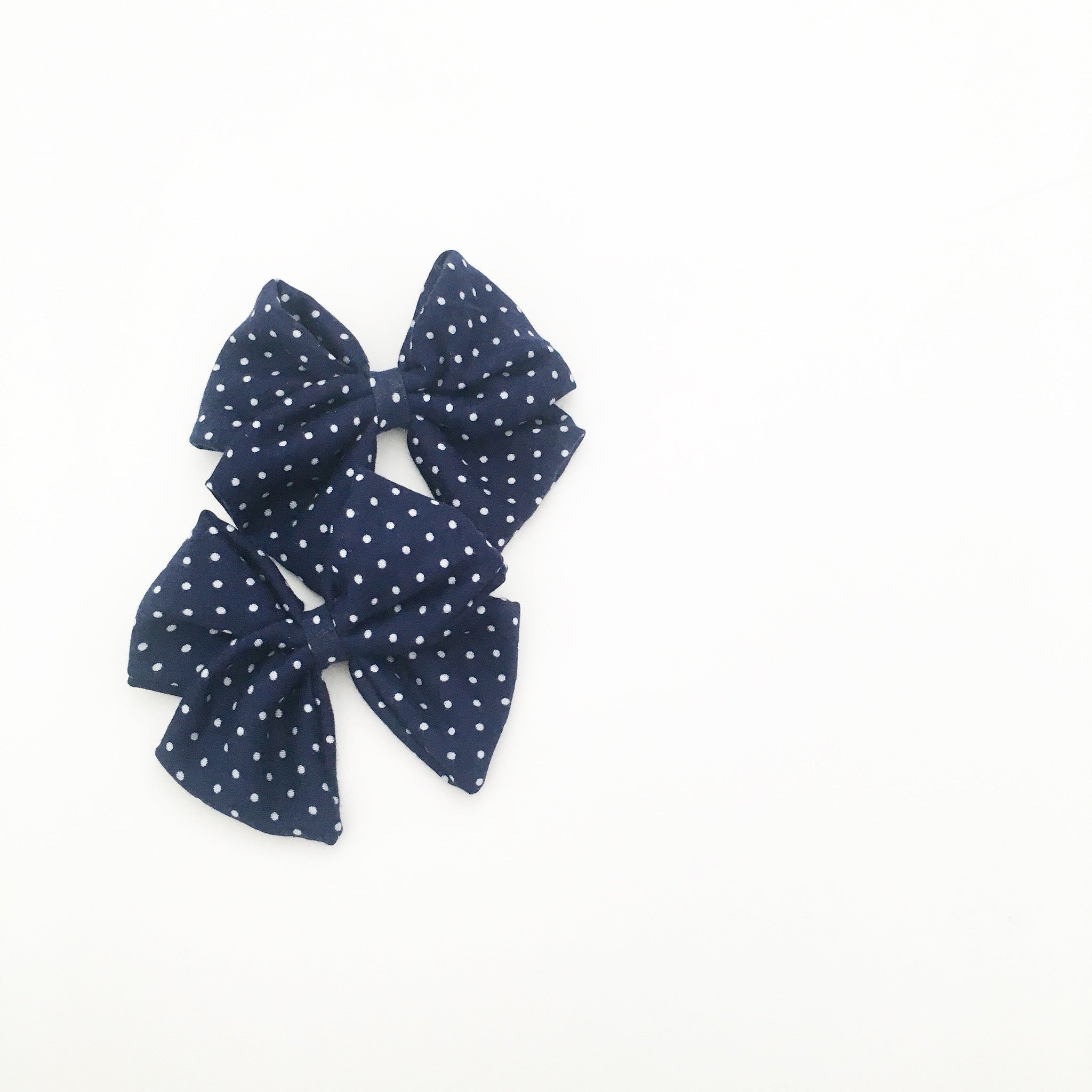 the blair - navy polka dot