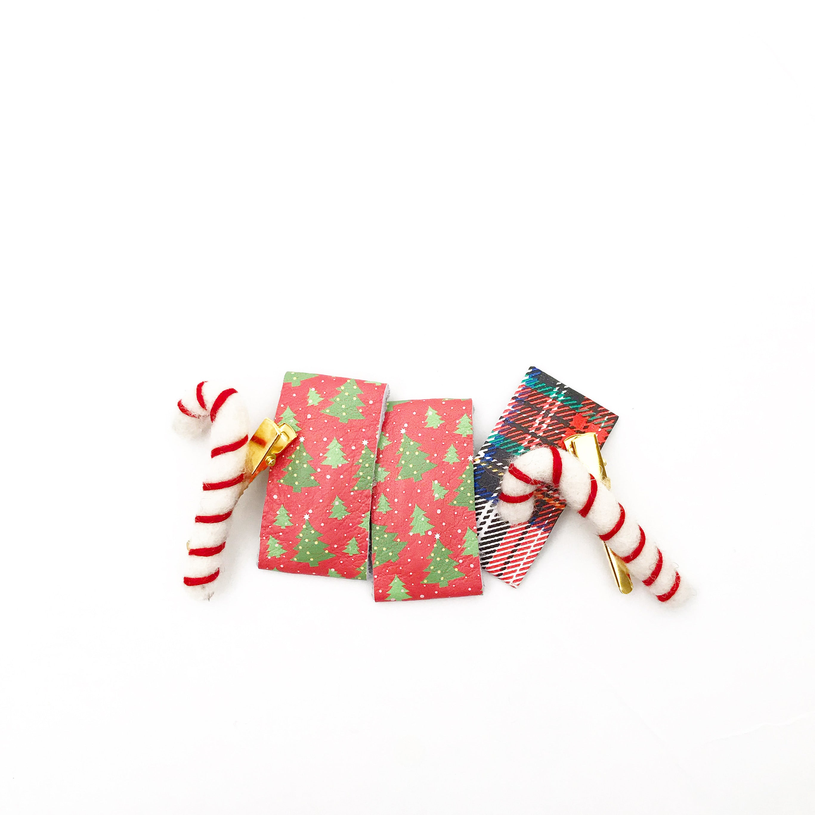 holiday leather snap clips
