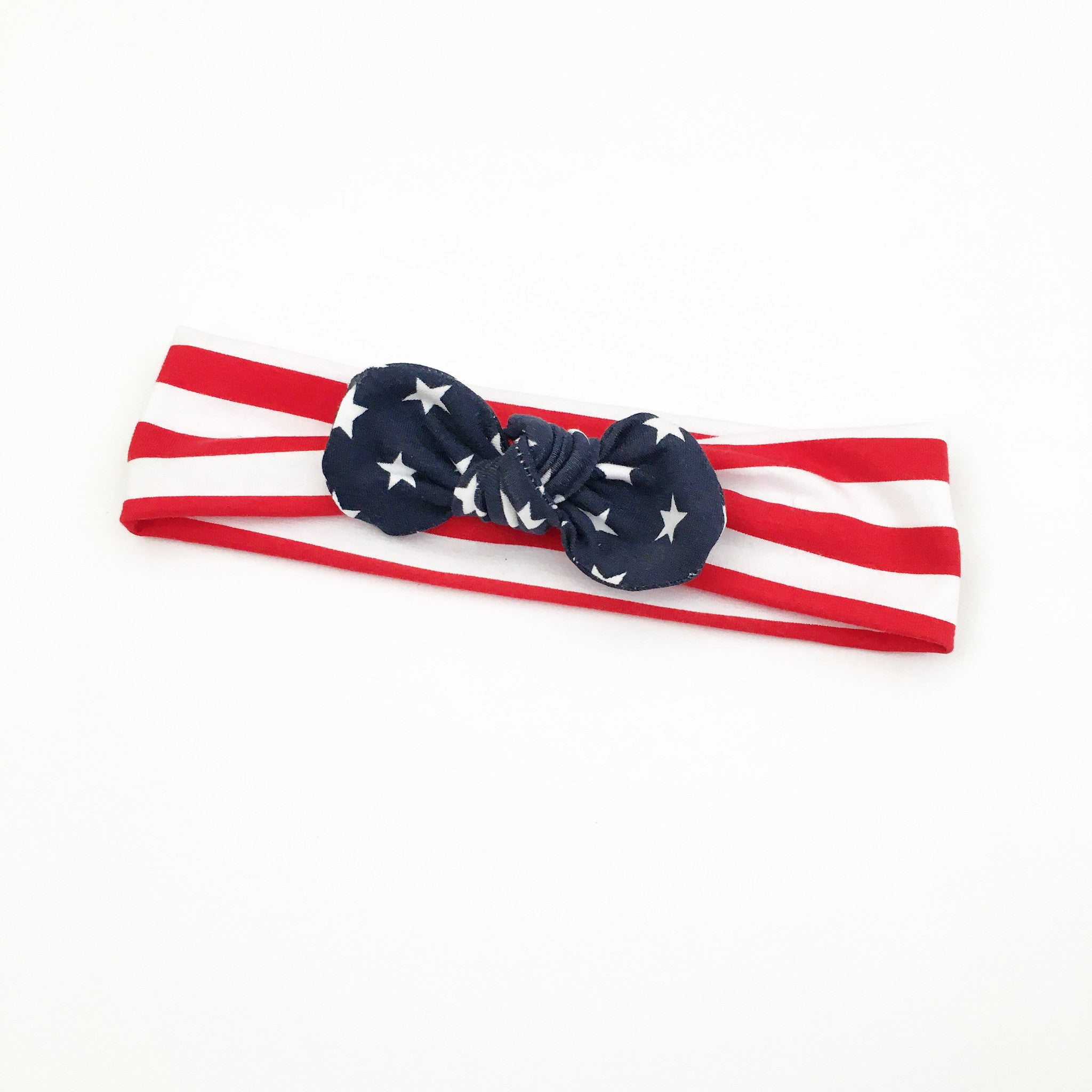 stars and stripes - top knot headband