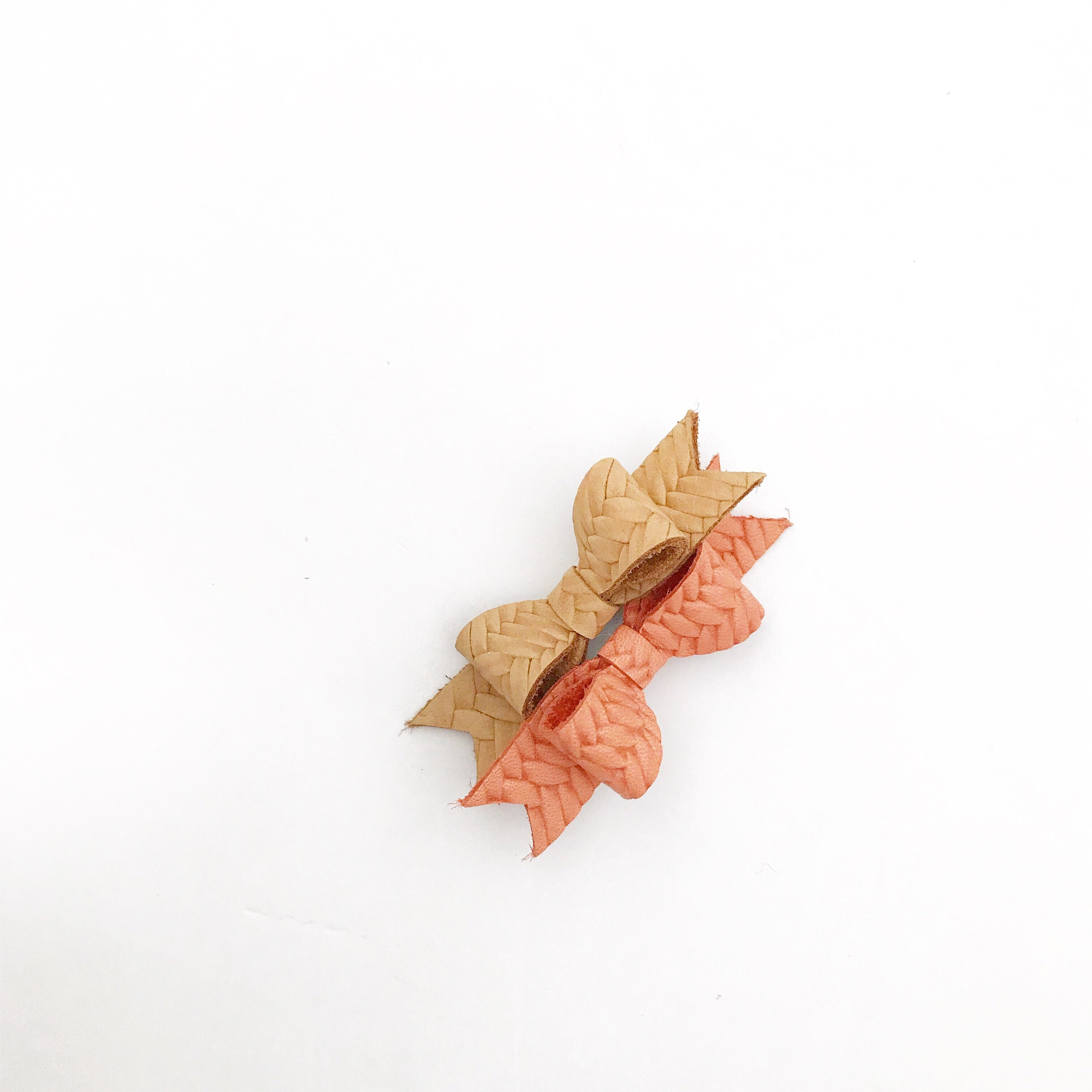 la petite hair clips - braided leather bow