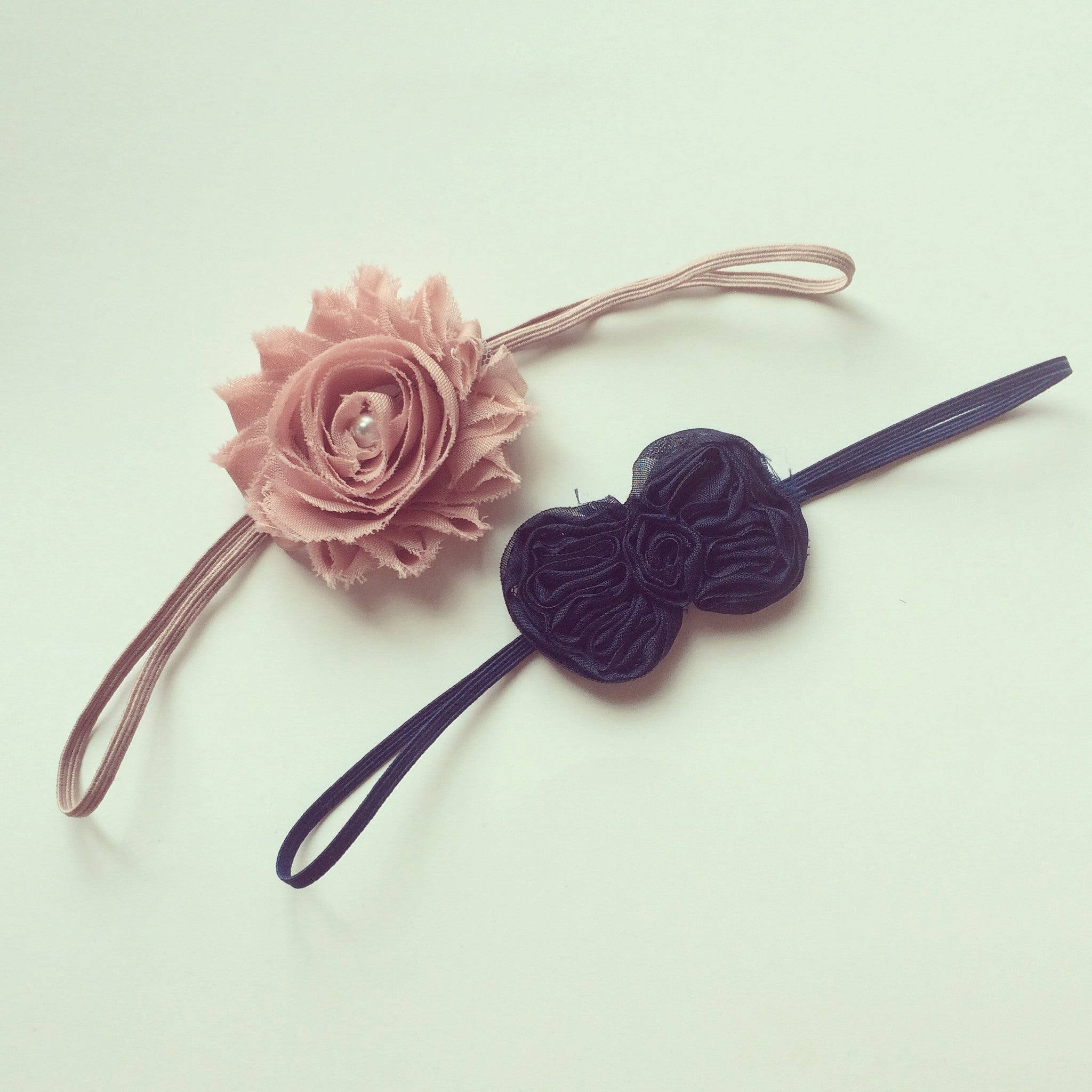 shabby navy and rose set