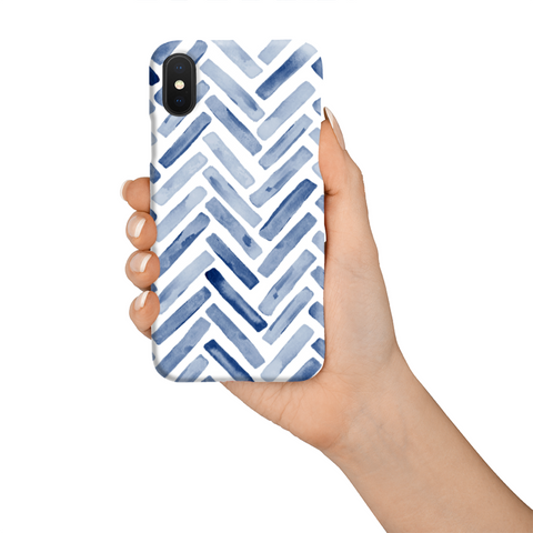 Phone Case - Blue Chevron