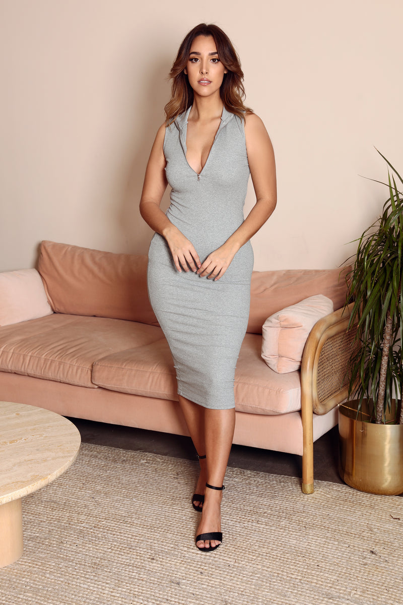 Tessa Front Zip Maxi Dress