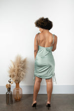Sage My Life Rouched Slip Dress