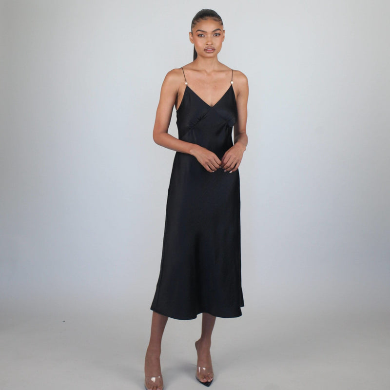 Black Pearl Slip Dress