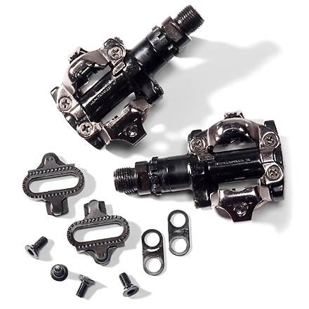 Shimano PD-M520 Black Pedals w/Cleats
