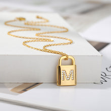 Load image into Gallery viewer, Lock Pendant Charm Necklace