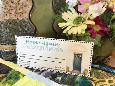 Home Again Consignments Gift Certificate